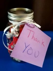 Teacher Appreciation Candy Jar Gift