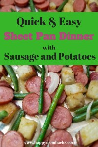 Sausage & Potatoes Sheet Pan Dinner. This easy dinner recipe is a family favorite. The best part is you only having one pan to clean which make it a perfect weeknight meal!