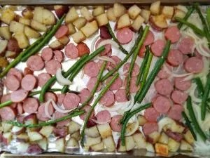 Quick and Easy Sheet Pan Dinner with Sausage and Potatoes