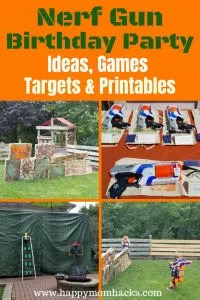 Ultimate Nerf Gun Birthday Party Ideas Includes Games For The Kids To Play DIY