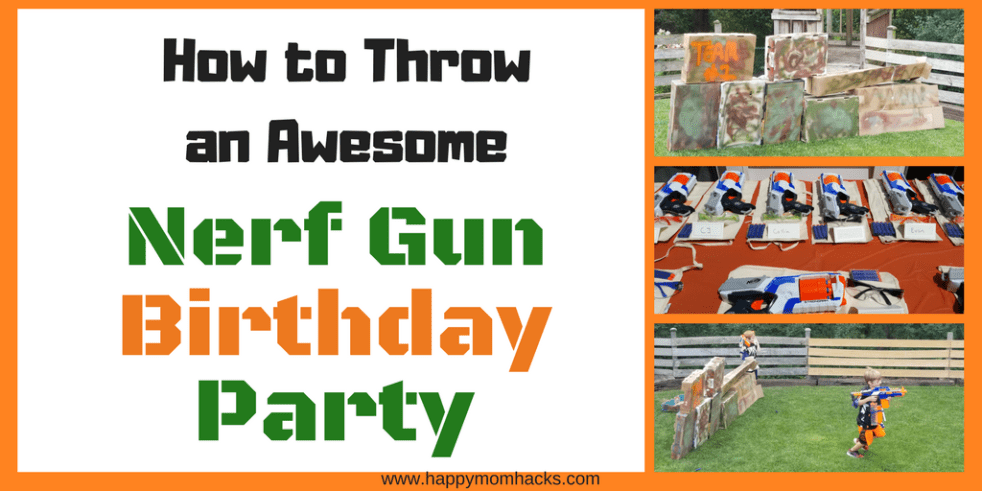How to Throw an Awesome Nerf Wars Birthday Party