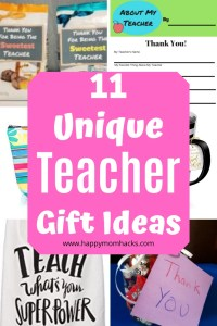 11 Unique Teacher Appreciation Gift Ideas for Christmas and End of the Year. Say thank you with these DIY & Store Bought gift ideas. All are teacher approved gifts they'll love! #teacherappreciation #teachergiftideas #teachergifts #holidaygifts
