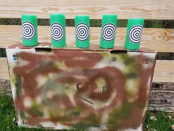 DIY Nerf Gun Targets for backyard parties.