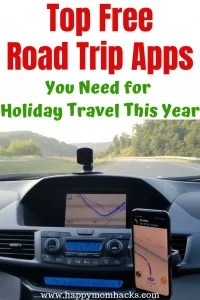 Best Road Trip Apps That are Free. Perfect for family travel to help you find hotels, the quickest route, best gas prices. closest restaurants and more. Make your road trip a breeze with these cool Apps. #roadtrip #travelapps #familytravel #travelplanning