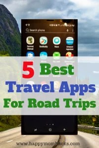 5 Best Travel Apps for your next Road Trip. Use these free travel apps to find the cheapest gas, best travel route, hotels and restaurants. Get them on Google Play and Apple Store. #traveltips, #familytravel, #roadtrip, #travelapps