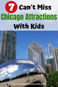 Chicago Attractions You Can't Miss with Kids. The best Things to do and see in the city. Visit cool museums, amazing parks like Maggie Daley Park and Millennium Park and more. Plus helpful tips to save money on your trip. #chicagoattractions # chicago #chicagowithkids #familyvacation #familytravel