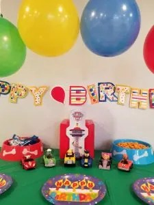 10 Awesome Birthday Party Ideas for Boys. Find cool themes for your party like Star Wars, Nerf Gun, and Fortnite for older kids. For the younger boys find games and theme ideas for Paw Patrol, sports, Lego, PJ Masks and more. Plan the your kids favorite birthday party this year with these easy birthday party ideas. #kidbirthdayparty, #birthdaytheme, #birthdaypartyideas