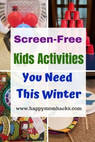 Indoor Activities and games for Kids at home. Perfect rainy day and winter weather fun that's screen free.  Enjoy these fun family games that are quick and easy to put together. #indoorgames #kidsactivities #kidgames #rainydaygames