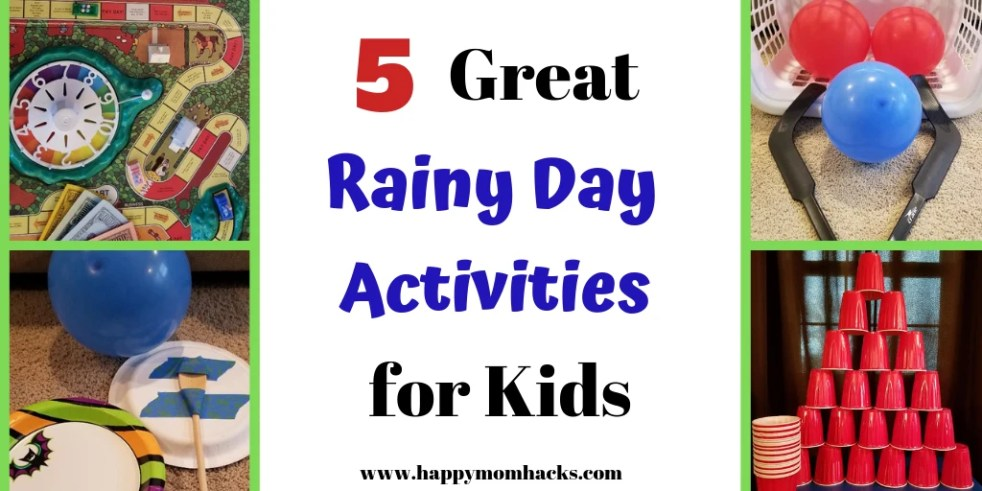 5 Rainy Day Activities For Kids Family Game Nights With No Screens
