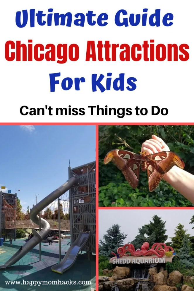 Must See Chicago Attractions for Kids. Where to find the best Things to do in chicago with families. Whether your visiting or a local here are the ideas you need for a fun family day out. Find a Chicago Guide with great museums, zoos, parks, perfect for winter & summer visitis. #chicagoattractions, #chicagowithkids, #familytavel, #traveltips