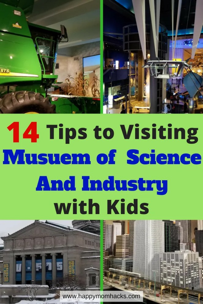 Best Tips Chicago Museum of Science and Industry with kids, Find out what to see, things to do, where to eat, where to park, free days and more. Use these tips to have a fun family day. #familyvacation, #chicago, #scienceandindustry, #chicagomuseum, #traveltip