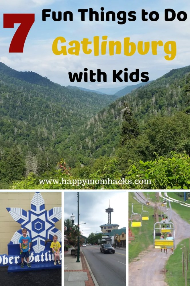Top Things to do in Gatlinburg Tennessee with Kids. Find out the best attractions for families. Visit Ober Gatlinburg, Gatlinburg Space Needle, Aquarium, Ripley's Museums, Smoky Mountains and more. Your family will have the best vacation!! #smokymountains, #gatlinburgTN, #familytravel, #traveltips