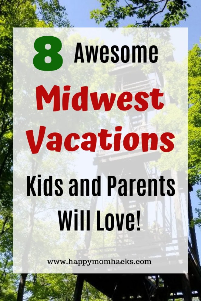 8 cool Midwest Weekend Getaways with kids. Find great road trips for Midwest Vacations the whole family will love. Easy travel destinations from Chicago where you'll find family adventures in great museums, sandy beaches and beautiful hikes. Click to find out where these awesome destinations are! #midwest, #familytravel, #traveltips, #vacationideas