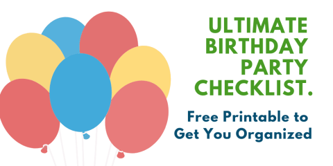 Ultimate Birthday Party Checklist. Be organized and prepared for your next kids party with free printable. Timeline set for your whole to do list. #freeprintable, #checklist, #partyplan, #birthdayparty