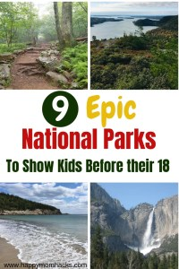 Best National Parks in the USA. Which parks to visit with kids on Road Trips from the East Coast, to the Midwest, California and Arizona. In the list you'll find Yosemite, Grand Canyon, Arcadia, Shenandoah, Sequoia National parks and more. Find the Park that best fits your family. #nationalparks, #familyvacation # familytrips # traveltips #np