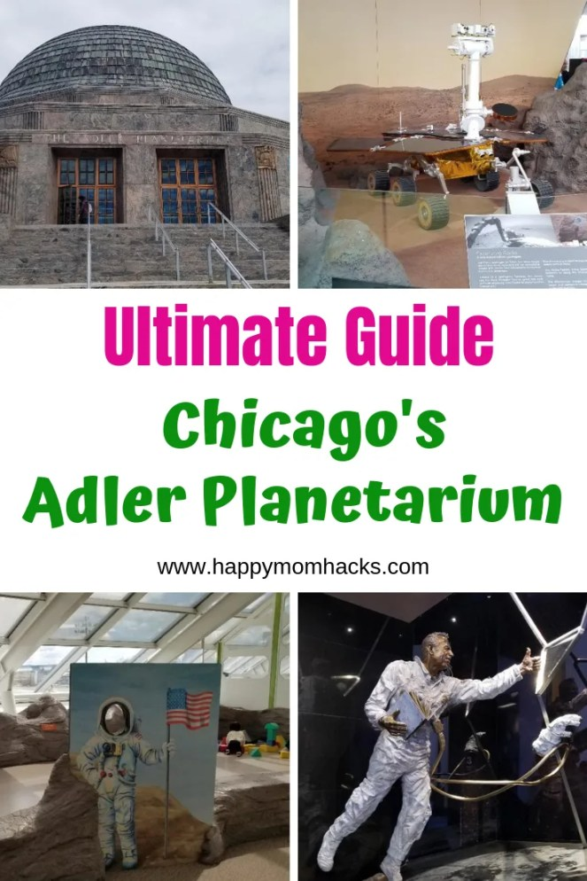 Ultimate Guide Adler Planetarium with kids. A Chicago Attraction you can't miss when visiting Chicago. Find out everything you need to know before visiting this fun Chicago Museum. #chicago #chicagoattractions #adlerplanetarium #familyvacation #traveltips #travelwithkids