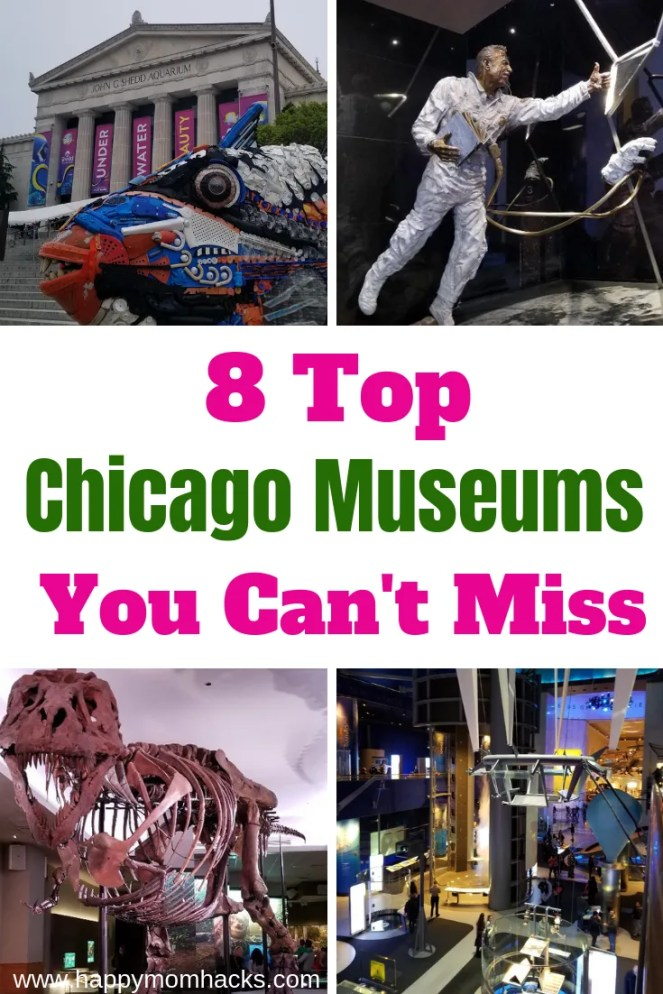 8 Can't Miss Chicago Museums with kids. Find out Things to do at Science and Industry, Field Museums of Natural History, Shedd Aquarium, Chicago Children's Museums and more. Decide which places to visit in Chicago your whole family will love. #chicago #chicagomuseums #museums #childrensmuseum #chicagoattractions #familyvacation #traveltips #kids