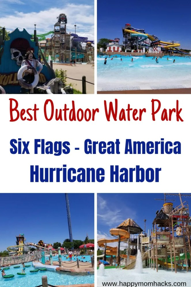 Best Water Park Hurricane Harbor at Six Flags Great America. Tips you need for your visit to Six Flags Water park and amusement park with kids. Everything you need to know before you go! #waterpark #kids #traveltips #amusementpark #sixflags