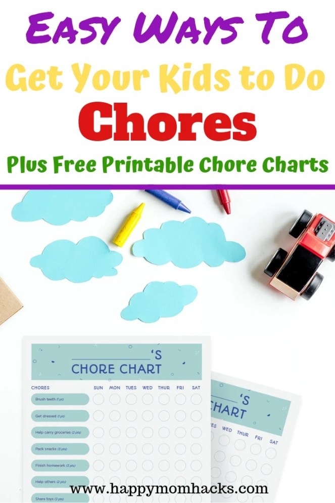 The Best Chore Charts for Kids. Free Printable DIY Charts to help families start including chores in daily life. Tips parents need to help kids become more responsible at home. Check it out! #chores #chorecharts #kids #familytips