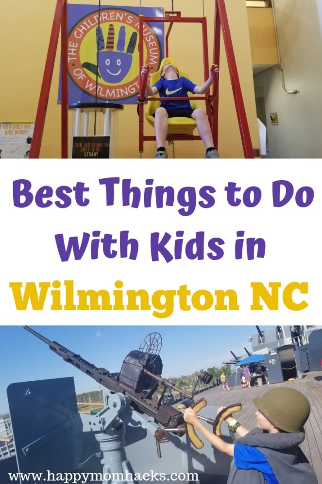 Best Things to Do in Wilmington NC with Kids. Your kids are gonna love Wilmington! Visit cool museums, the historic downtown & Riverwalk, NC Aquarium, Beaches and more. All the tips you need for an awesome family vacation in the Wilmington Area. #wilmingtonnc #northcarolina