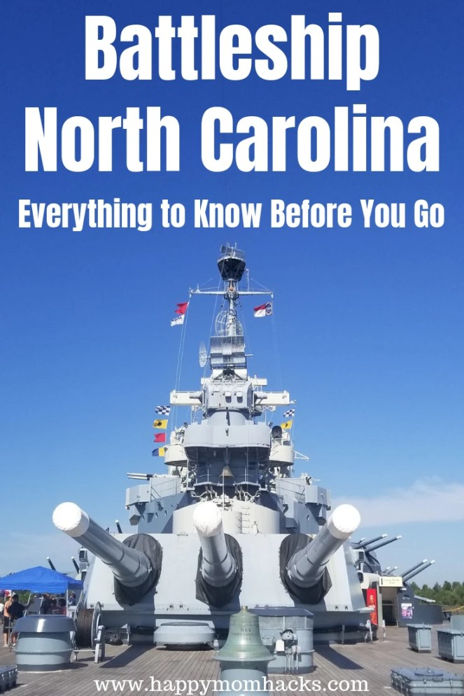 Visit Battleship North Carolina in Wilmington NC. Everything you need to know before you go to have a memorable day exploring this cool WWII ship. Both kids and adults will love exploring all 9 levels of the Battleship. #battleship #northcarolina #wilmingtonnc #familyvacation #traveltips #WWII