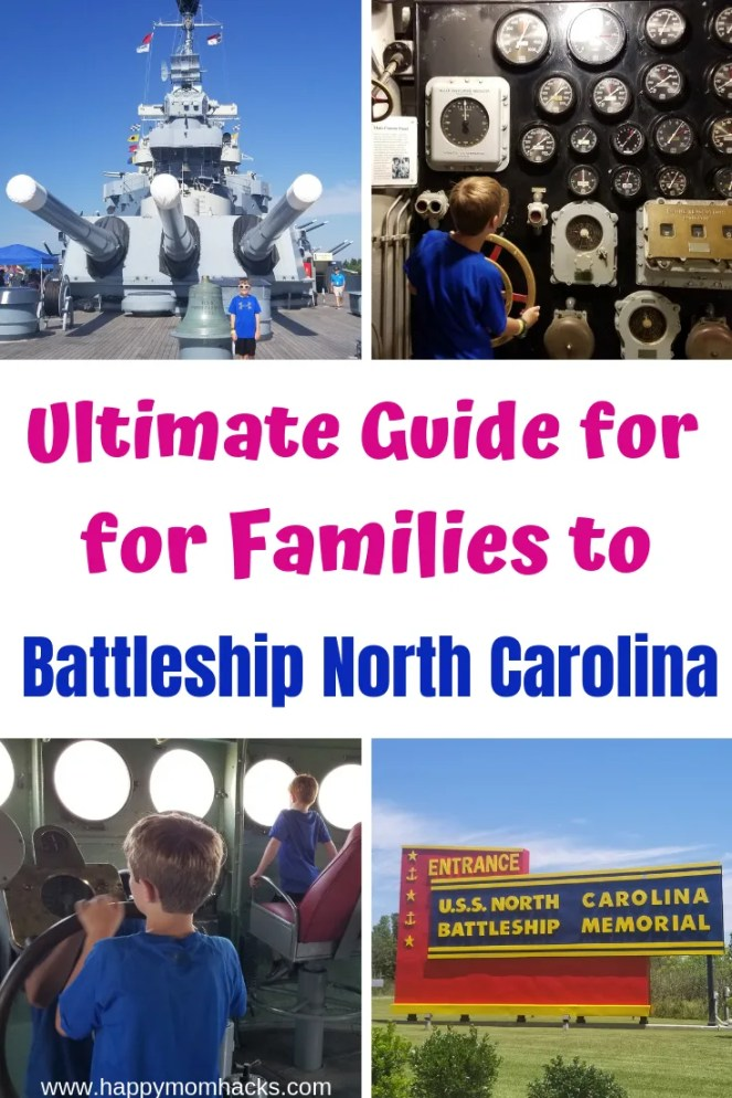 Best Guide to Battleship North Carolina in Wilmington NC. Tips on your family visit and what to expect to see. Be ready for a great family day out explore this cool WWII battleship. #battleship #wilmingtonnc #northcarolina #familyvacation #traveltips