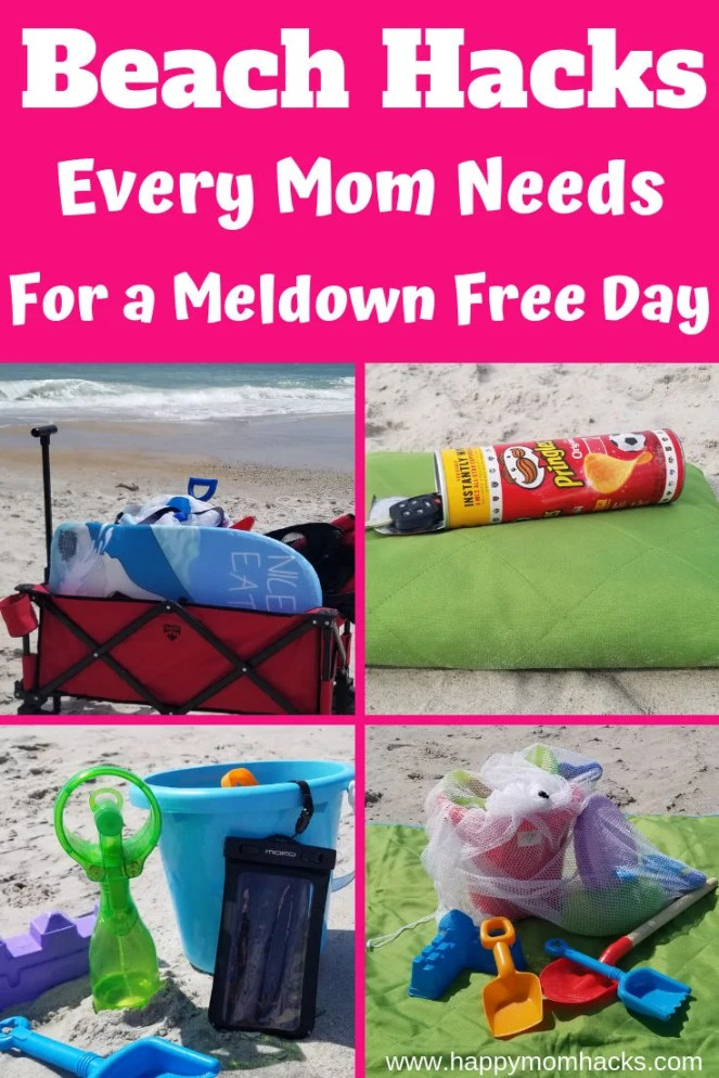 20 Awesome Beach Hacks Moms will Love! Get these easy tips and tricks for taking kids to the beach. Clever ideas to hide your valuables, carrying things to the beach, safe areas for babies and so much more. #Beachhacks #travelwithkids #beachday #beachvacation #travelhacks #traveltips #familyvacation