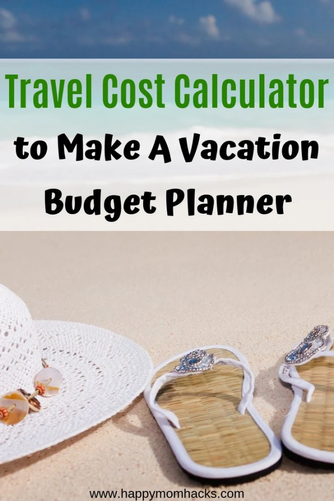 Make your Vacation Budget Planner with this Free Travel Cost Calculator. Figure out what your travel expenses will be and how to save money for your Vacation. Perfect for upcoming road trips and family vacations. #costcalculator #travelbudget #travelexpenses #budgetplanner #vacation