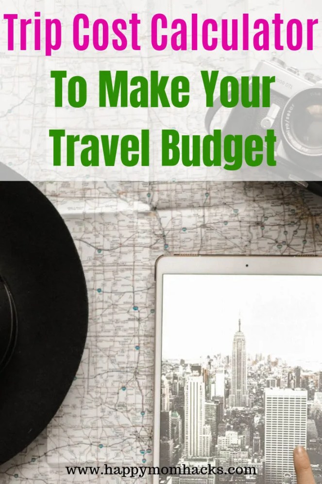 Free Trip Cost Calculator to help plan your Travel Budget. Use the worksheet to find out if you need to save money for your vacation. Great way to plan out your travel expenses.  #travel #traveltips #costcalculator #travelbudget