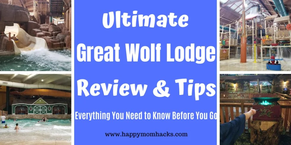 Best Great Wolf Lodge Review & Tips - What to expect at the Water park, accommodations, activities, dinning and more. Wisconsin Dells | California | Ohio | Michigan and more. Be ready for a great trip! #greatwolflodge #waterpark #wateparkresort #familyvacation #wisconsindells