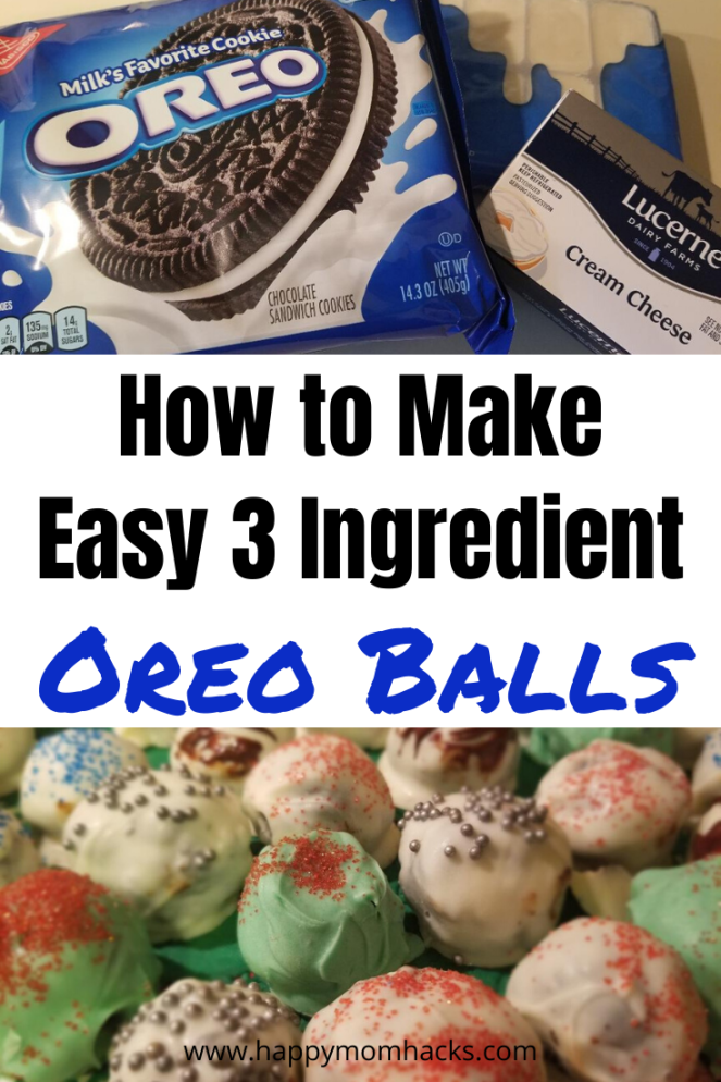 Amazing 3 Ingredient Oreo Balls. Learn how to make these easy no bake Oreo Balls at home. Customize them for Christmas, Thanksgiving, Halloween, Easter and more holidays. You won't believe how easy they are to make! #oreoballs #cakeballs 3ingredientdessert