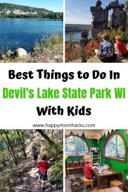 What to do in Devil's Lake State Park Wisconsin. Learn about the best hikes, where to swim, camp, nature center and more. Everything fun to do with kids on your visit. #devilslake #wisconsinstatepark #travelwithkids