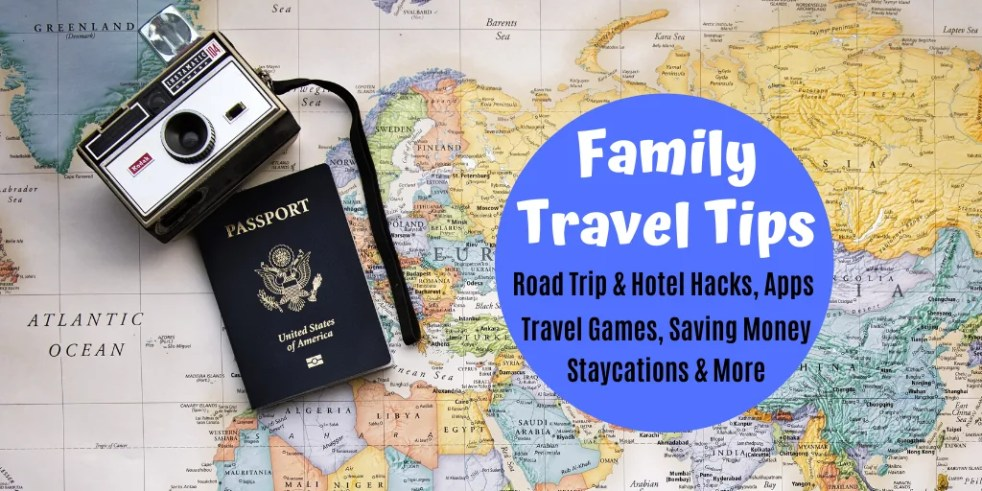 Family Travel Tips for vacations with kids. Find tips for saving money, games & activities for road trips, free printable checklists, beach hacks, hiking tips and more. Everything you need to be ready for a family vacation. #traveltips #familytravel #familyvacation