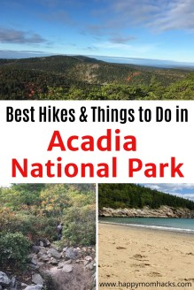 Acadia National Park- Guide to Hiking & Things to Do with Kids. Tips for your visit & what you can't miss. Best hiking trails to take, drive Park Loop Road, Eat at Jordan Pond and swim at Sand Beach. #acadianp #acadianationalpark #nationalparks #hiking #familyvacation #travelwithkids