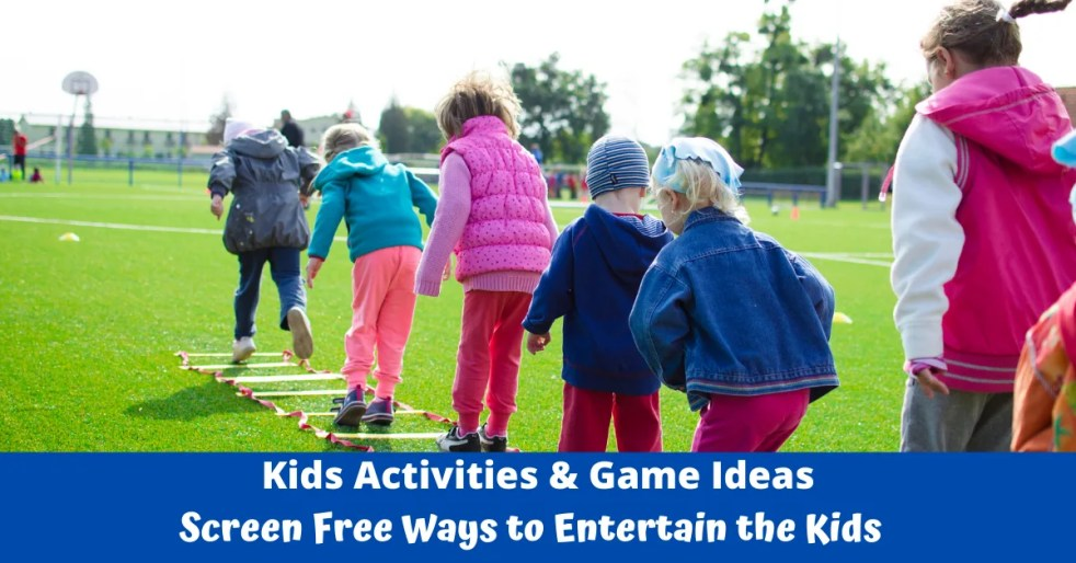 Fun Kids Activities & Game Ideas. Great Indoor games for rainy days and outdoor activities & games for summer. Easy & Free ways to entertain the kids at home.