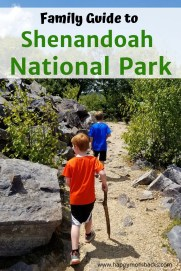 Hiking & Things to Do in Shenandoah National Park with Kids.  A Complete guide for families visiting Shenandoah National Park and Shenandoah Valley. Tips on great family hikes, skyline drive, waterfalls, wildlife and more. Everything to know for your visit. #shenandoahnationalpark #nationalparks #hiking #familyvacation #kids #thingstodoshenandoah #waterfalls #skylinedrive