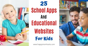 Best School Apps & Educational Websites for Elementary School and High School Students. Free and easy to use websites for kids you can use to teach your kids at home. #schoolapps #educationalwebsites #educationalresources #websitesforkids