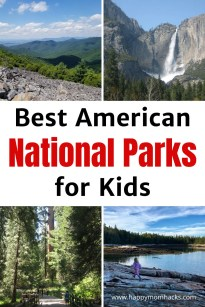 Can't miss United States National Parks with Kids. Visit awe inspiring National Parks like Yosemite, Smoky Mountains, Arcadia, Shenandoah, Grand Canyon & more. Use this family vacation guide to see which is the best park for your family.  #nationalparks #usanationalparks #familyvacation #acadia #yosemite #smokymountains #grandcanyon #nationalpark #travelwithkids