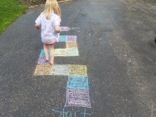 Candyland Board Game with Sidewalk Chalk for Kids