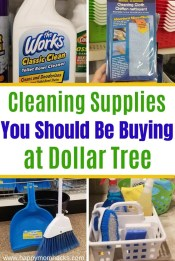 Cleaning Tips with cleaning Supplies from Dollar Tree. Save money and find out which cleaning supplies you should be buying to clean your kitchen, bathroom, bedrooms, living room and more. Make your house sparkle. #dollartree #dollarstore #cleaningsupplies #cleanyourhouse #cleaningtips