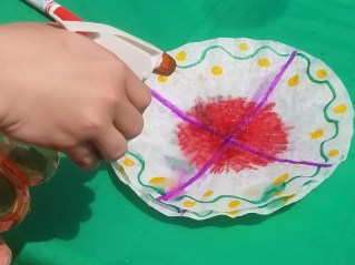 How to Make coffee filter art into a butterfly. Cool kids craft activity.