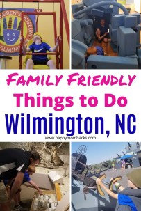 Top Things to Do in Wilmington NC with Kids. Everything you need to know about the best beaches, what to do in downtown, museums to visit, Battleship North Carolina and more. Plus tips for a fun family vacation in this beautiful historic city. #wilmingtonnc #beachvacation #familyvacation #travelwithkids #northcarolina