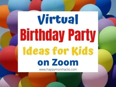 Fun Virtual Birthday Parties for Kids on Zoom. Party Games and Themes for kids and teens for a social distanced birthday party. #birthday #virtualparty #kidsparty #zoom