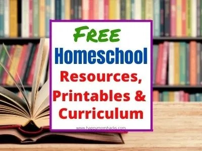 Free Homeschool Curriculums, resources & printables to make homeschooling easier for parents. Everything you need to get started homeschooling for Kindergartners, elementary and Middle school age kids. Great reasources for remote learning too. #homeschooling #homeschoolresources #homeschoolcurriculum #homeschoolpintables #freeprintables #free