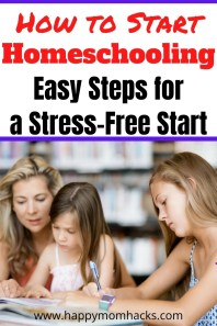How to Start Homeschooling Your Elementary & Middle School Kids. All you need to know about curriculum, educational resources, state laws, cost, co-ops and more. Plus how to set up a homeschool room or space and school supplies. Be ready for a great homeschool year with your kids. #homeschool #curriculum #educationaresources #middleschool #elementary #homeschoolroom