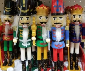 Nutcrackers are a fun Christmas Decorations idea from Dollar Tree.