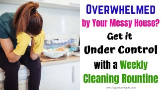 Weekly Cleaning Rountine made easy with a Free Printable Checklist. Get organized and take the stress out of cleaning your house. #cleaning #cleaningchecklist #weeklycleaningroutine #cleaningroutine