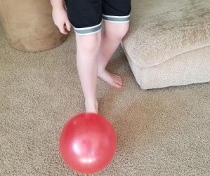 Fun Balloon Activity for kids to play when their stuck at home.