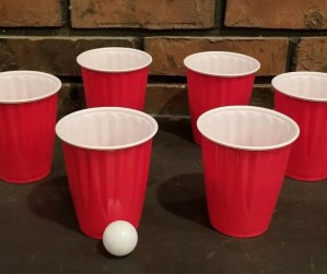 Ping Pong Toss is a fun indoor game for kids on rainy days when your stuck inside.