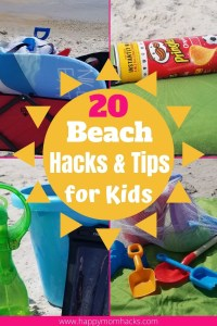 Genius Beach Hacks for kids to help families survive a day at the beach. Clever beach tips and tricks to help you on family beach vacations or just a day out at the beach with kids. You won't believe you didn't think of these beach hacks before! #beach #beachtips #beachhacks #familybeachday #kidsatthebeach #familyvacation #beachday
